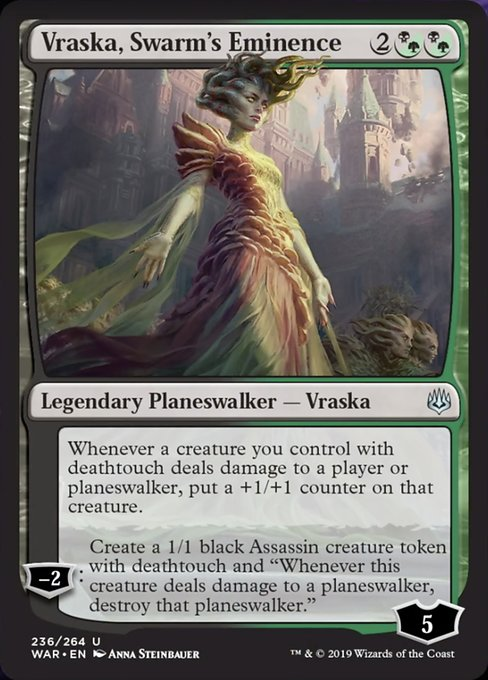 MTG Magic Card Rare War of the Spark #186 Bioessence Hydra Mint